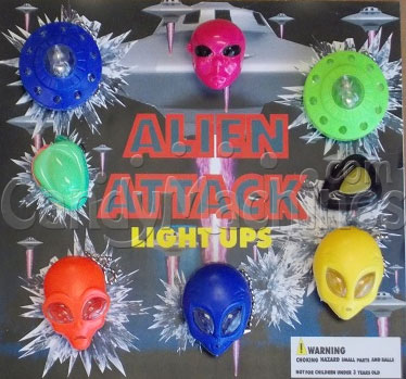 Alien Attack Light Ups Vending Capsules 2 Inch