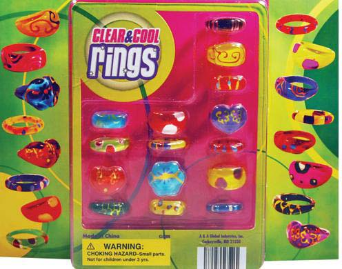 Clear and Cool Rings Jewelry Vending Capsules