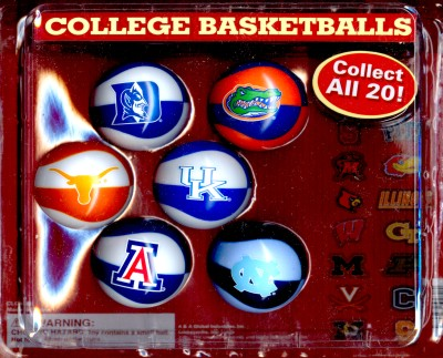 2-inch College Basketball Self Vending Balls 60 ct