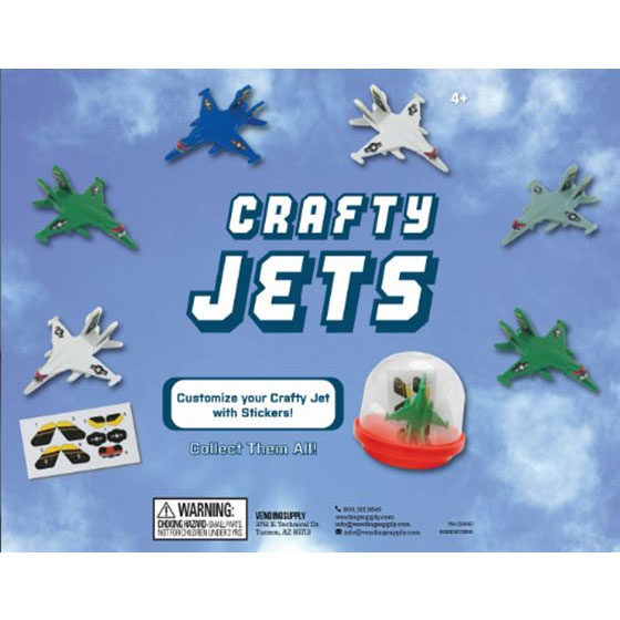 "2"" Crafty Jets Vending Capsules"