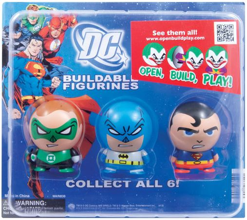 "2"" DC Comics Buildable Figurines Vending Capsules - 250 ct."