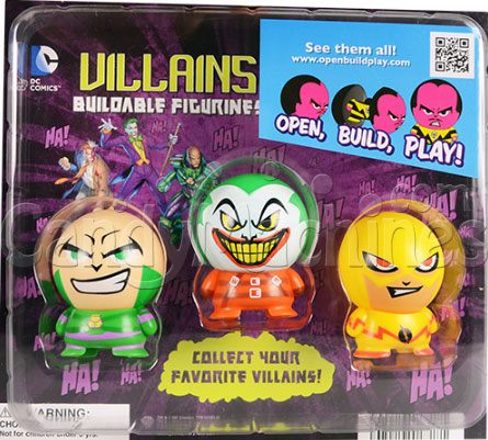 "2"" DC Villains Buildables Vending Capsules Display Card"