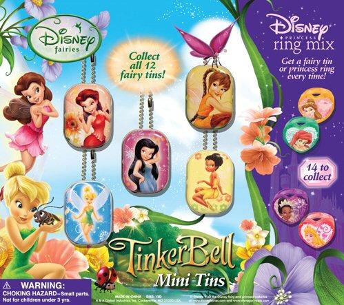 Disney Fairy Mini Tin & Princess Ring Mix
