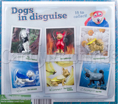 "2"" Dogs in Disguise Vending Capsules - Display"