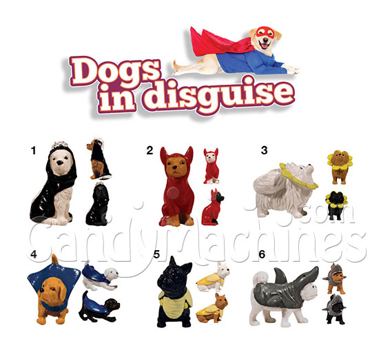 "2"" Dogs in Disguise Vending Capsules"