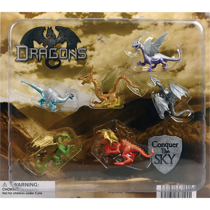 Dragon Figurines Vending Capsules - 250 ct.
