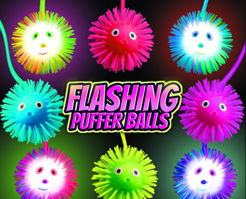 "2"" Flashing Puffer Balls Vending Capsules - 250 ct."