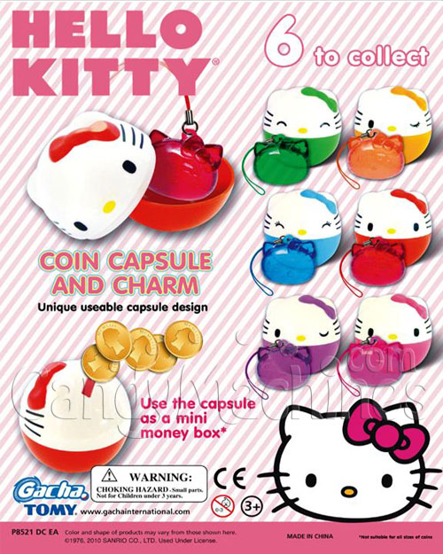 Hello Kitty Coin Capsule and Charm Vending Capsules