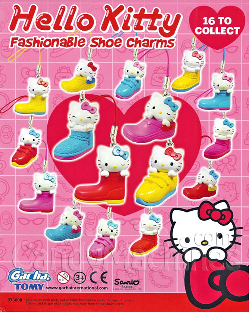 Hello Kitty Fashionable Shoe Charms Vending Capsules