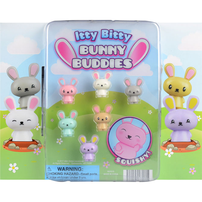 "2"" Itty Bitty Bunny Buddies Vending Capsules"
