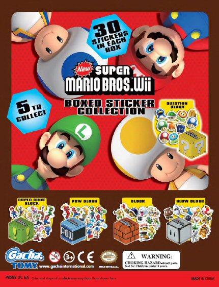 Super Mario Sticker Boxes Vending Capsules