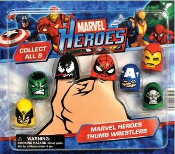 Marvel Heroes Thumb Wrestlers Vending Capsules