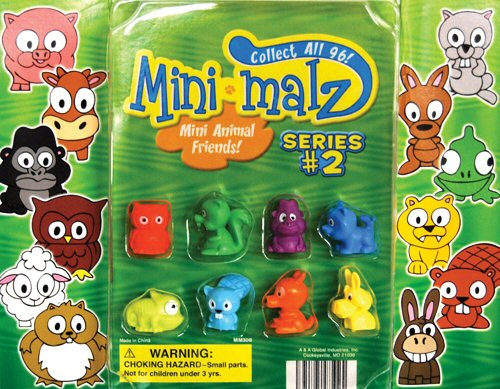 Mini Malz Animals 2 Vending Capsules 250 ct