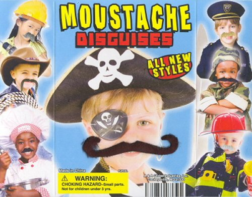 2-inch Fuzzy Face Moustaches Refill Acorn Vending Capsules 250 ct