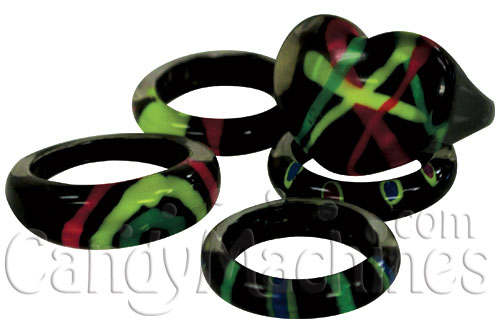 Bright Bands Neon Rings Vending Capsules
