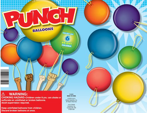 Punch Balloons Vending Capsules 250 ct