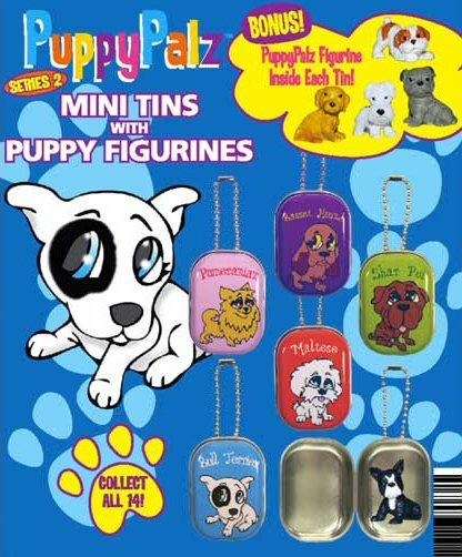 Puppy Palz Figurines in Tins Vending Capsules