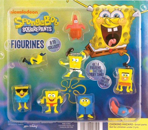 Spongebob Figurines & Mini Tattoos Mix Vending Capsules