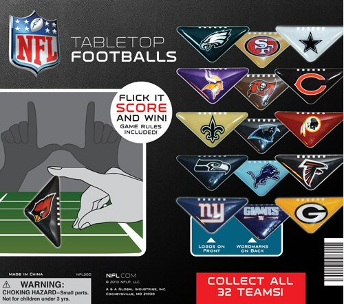 NFL Table Top Football Vending Capsules